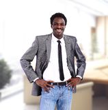 African American business man in office Stock Image