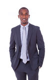African american business man over white background - Black peop Royalty Free Stock Photography