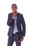 African american business man over white background - Black peop Royalty Free Stock Photos