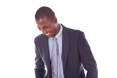 African american business man over white background - Black peop Stock Photos