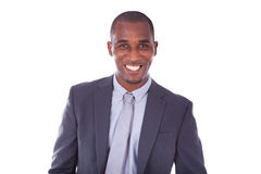 African american business man over white background - Black peop Royalty Free Stock Image