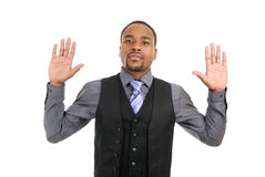 African american business man pledging Stock Images