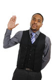 African american business man pledging Stock Image