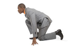 African american business man ready to run Royalty Free Stock Photos