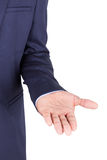 African american business man showing open hand palm- Black peop Royalty Free Stock Photos