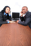 African American Business Partners stock photo