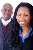 African American Business People. African American Business Man and Woman royalty free stock photo