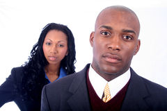 African American Business People. African American Business Man and Woman royalty free stock images