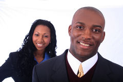African American Business People. African American Business Man and Woman stock photos