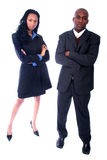 African American Business People. African American Business Man and Woman royalty free stock image