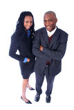 African American Business People. African American Business Man and Woman stock image
