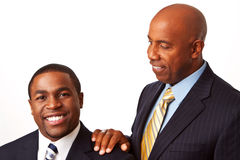 African American Business team and mentor. Royalty Free Stock Images