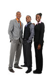 African american business team standing Royalty Free Stock Photo