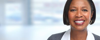 African-American business woman. Stock Photo