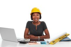 African-American business woman. royalty free stock images