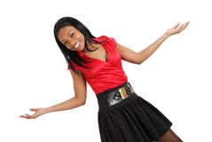African american business woman celebrating Stock Photography