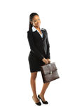 African american business woman holding royalty free stock images