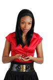 African american business woman holding a ribbon Stock Photography