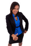 African american business woman making thumbs up Royalty Free Stock Photography