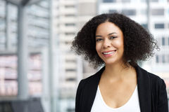 African american business woman smiling Royalty Free Stock Image