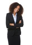 African american business woman smiling Stock Photography