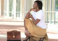 African American Business Woman Street Stock Photos