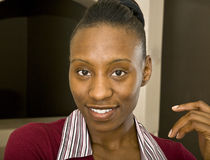 African American Business Woman or Student Stock Photo