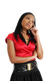 African american business woman thinking Stock Images