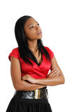 African american business woman thinking Royalty Free Stock Photos