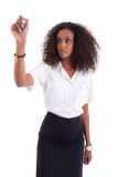 African american business woman  writing Stock Photo