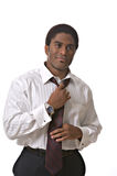 African-American businessman. Isolated against white background Royalty Free Stock Photo