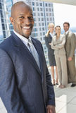 African American Businessman & Business Team stock photography