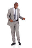 African american businessman dancing Royalty Free Stock Photo