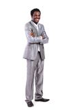 African American businessman in the full-length Royalty Free Stock Image
