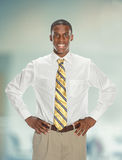 African American Businessman With Hands on Hips Royalty Free Stock Photo