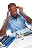 African-American businessman having stress. Royalty Free Stock Image