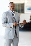 African american businessman laptop Stock Photography