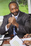 African American Businessman Man in Meeting Royalty Free Stock Images
