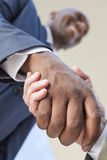 African American Businessman or Man Shaking Hands royalty free stock image
