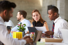 African American Businessman At Meeting With Colleagues Royalty Free Stock Images