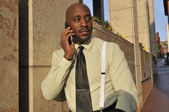 African American Businessman Speaking on the Phone Stock Images
