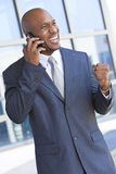 African American Businessman Talking on Cell Phone Royalty Free Stock Image