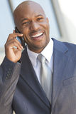 African American Businessman Talking on Cell Phone Royalty Free Stock Photo
