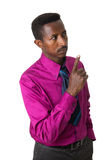African American businessman with tie isolated Stock Photo