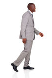 African american businessman walking Royalty Free Stock Photos