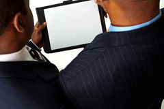 African American businessmen working on strategies. Copy Space. Royalty Free Stock Photography