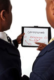 African American businessmen working on strategies. Royalty Free Stock Photography