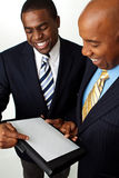 African American businessmen working on strategies. Stock Images