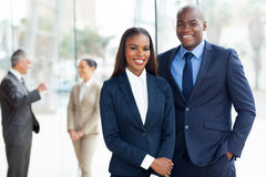 African american businesspeople. Young african american businesspeople in office royalty free stock photos