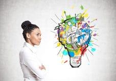 African American businesswoman, business idea Stock Image